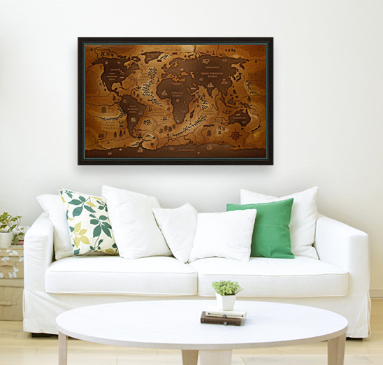 Ancient world map worldflag canvas ancient world map print ancient world map art gumiabroncs Images