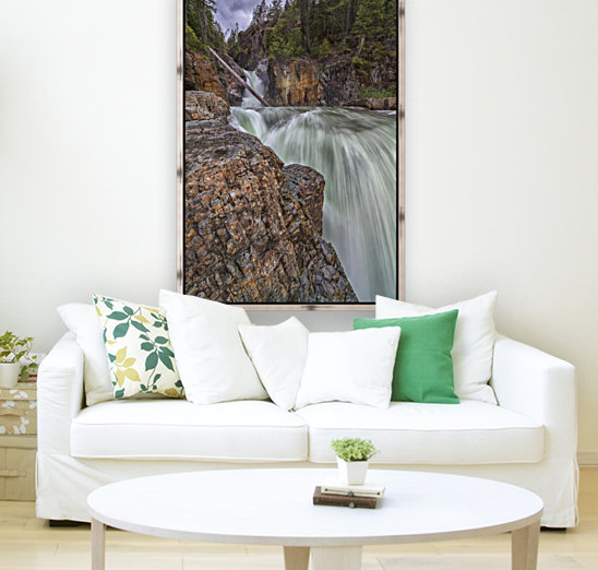 Myra Falls, Strathcona Provincial park; British Columbia, Canada with Floating Frame