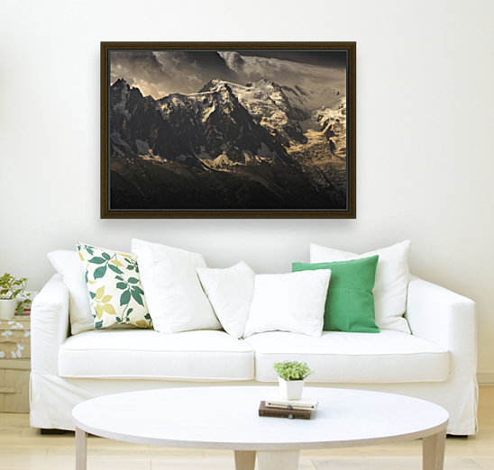 Aiguille du Midi and Mont Blanc, French Alps with Floating Frame