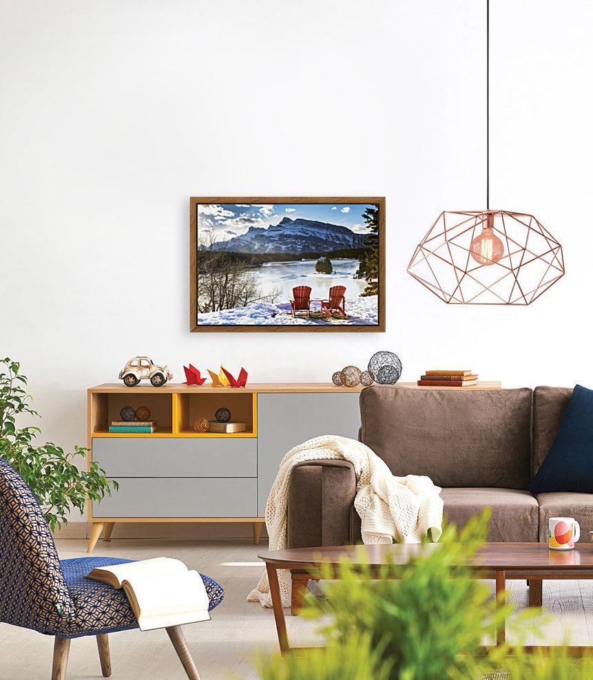 Frozen Lake Wall Art Living Room