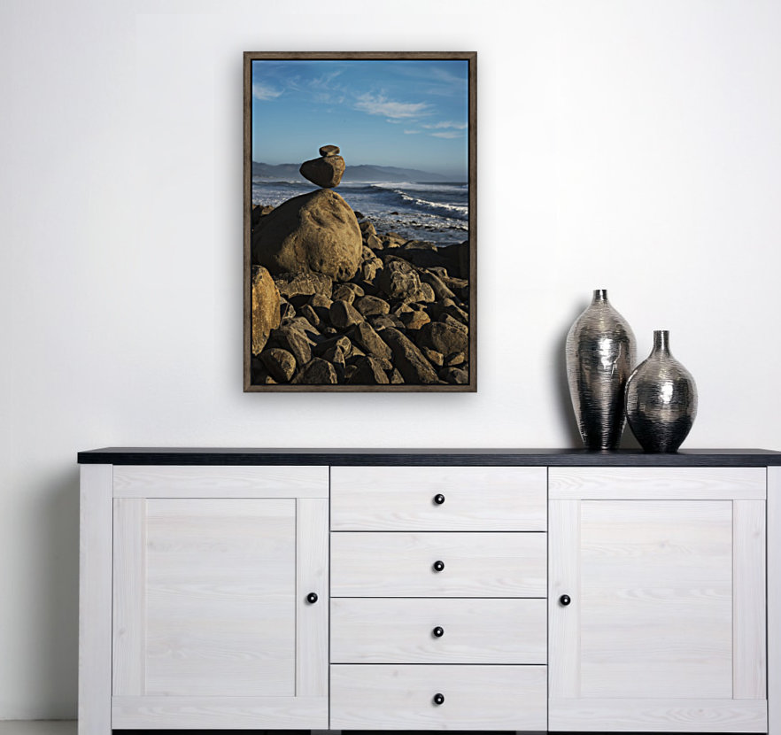 Stones have been balanced on Neahkahnie Beach; Manzanita, Oregon, United States of America  Art