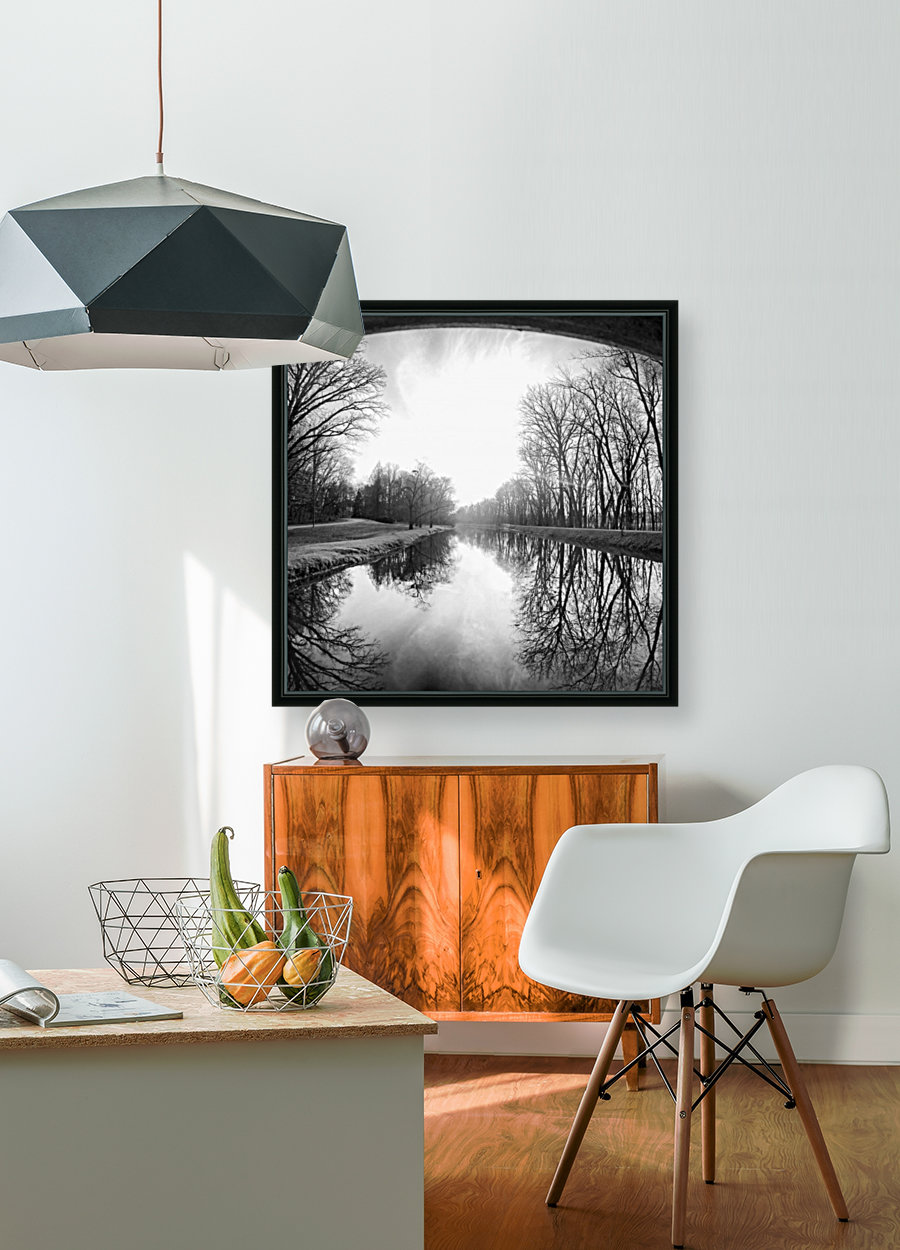 The Canal, Black and White  Art