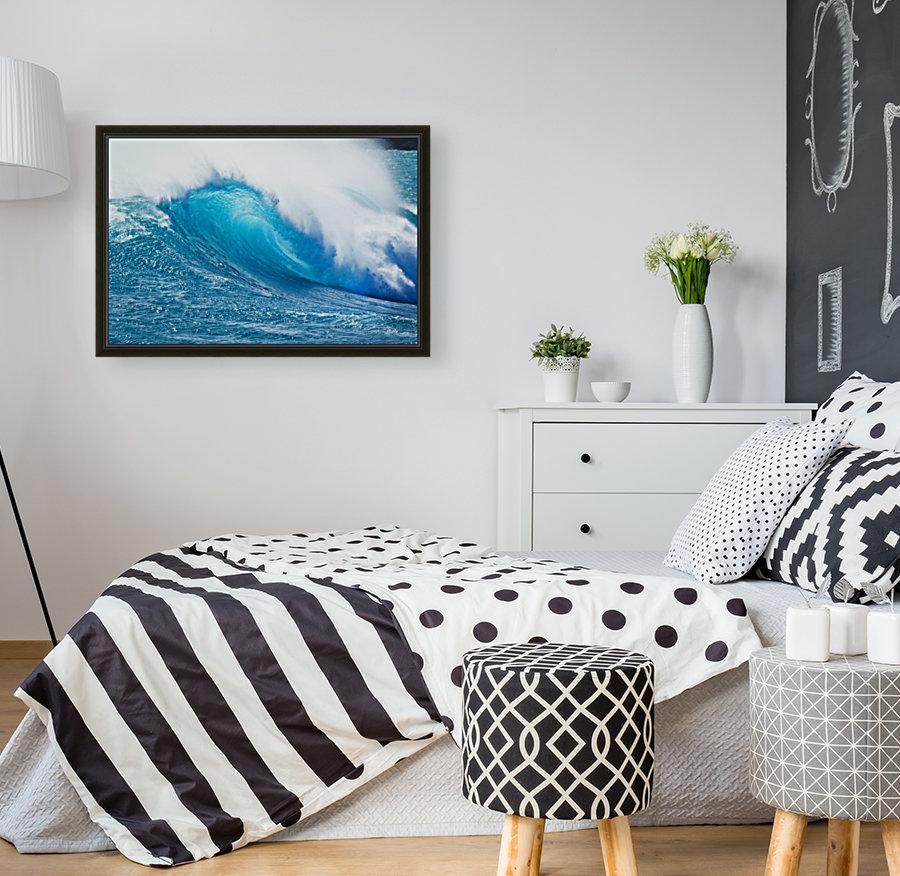 Beautiful Blue Ocean Wave  Art