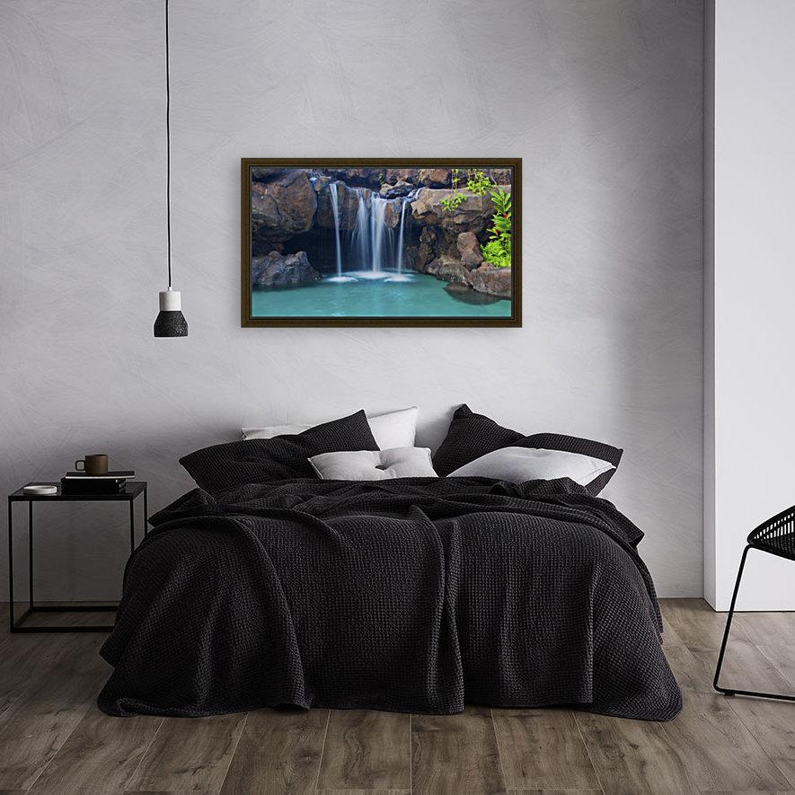 Waterfall into Resort Pool  Art