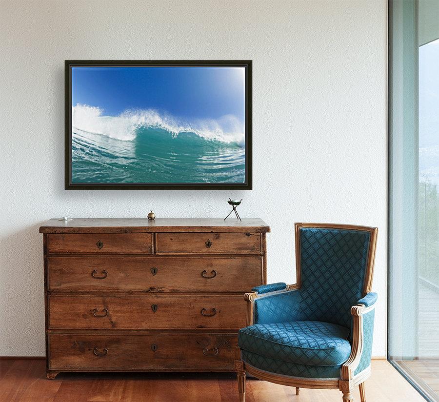 Blue Ocean Wave and Sunny Blue Sky  Art