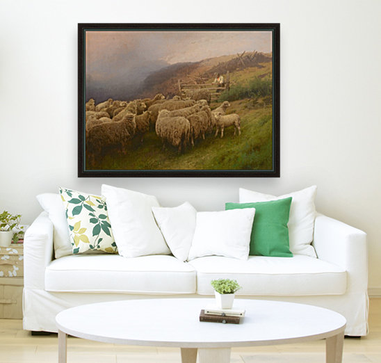 Landscape with sheep  Art