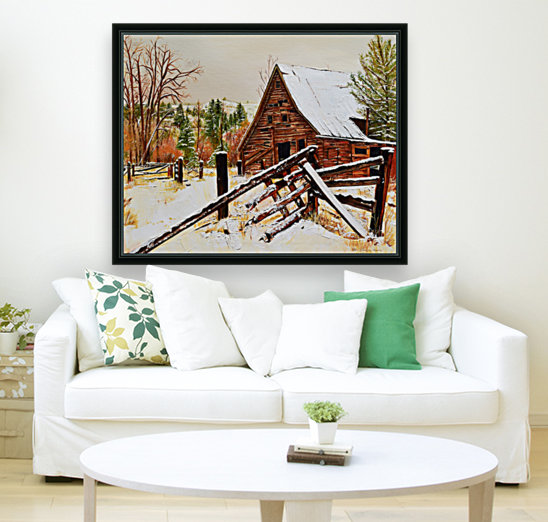 Strong Timbers - A Barn in Nevada  Art