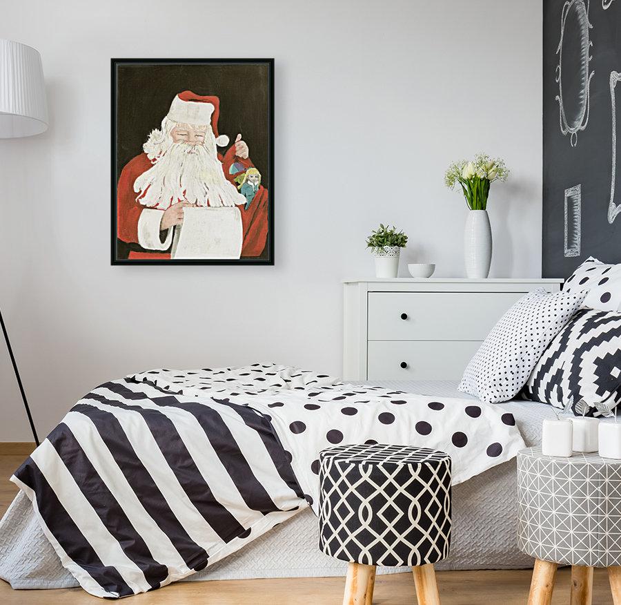 Santa making his list  Art