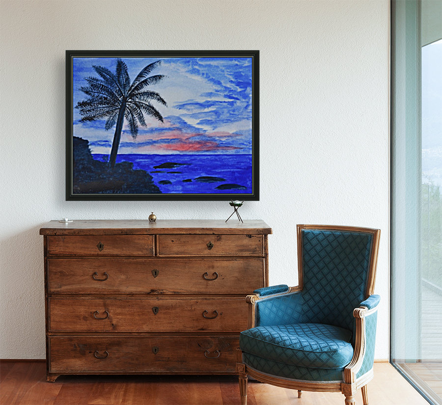 Dusk Ocean Scene  Art
