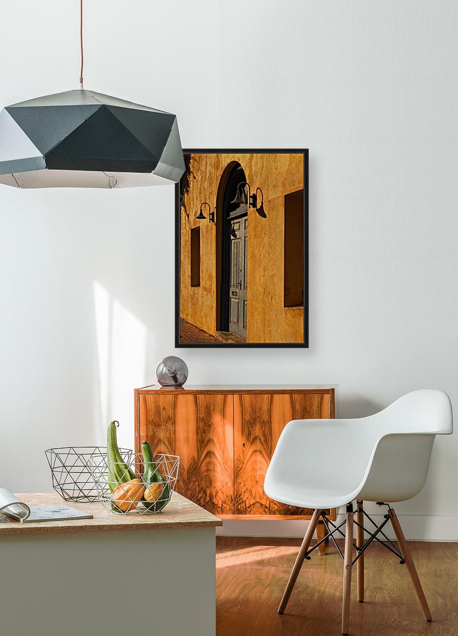 Blue Door in a Orange Wall  Art