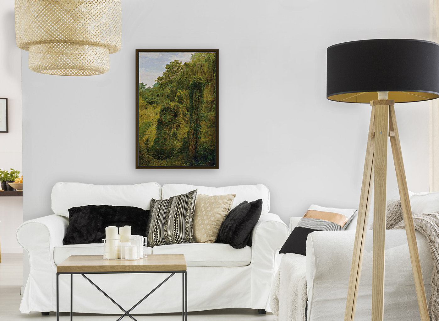 View of a forest in Jamaica  Art