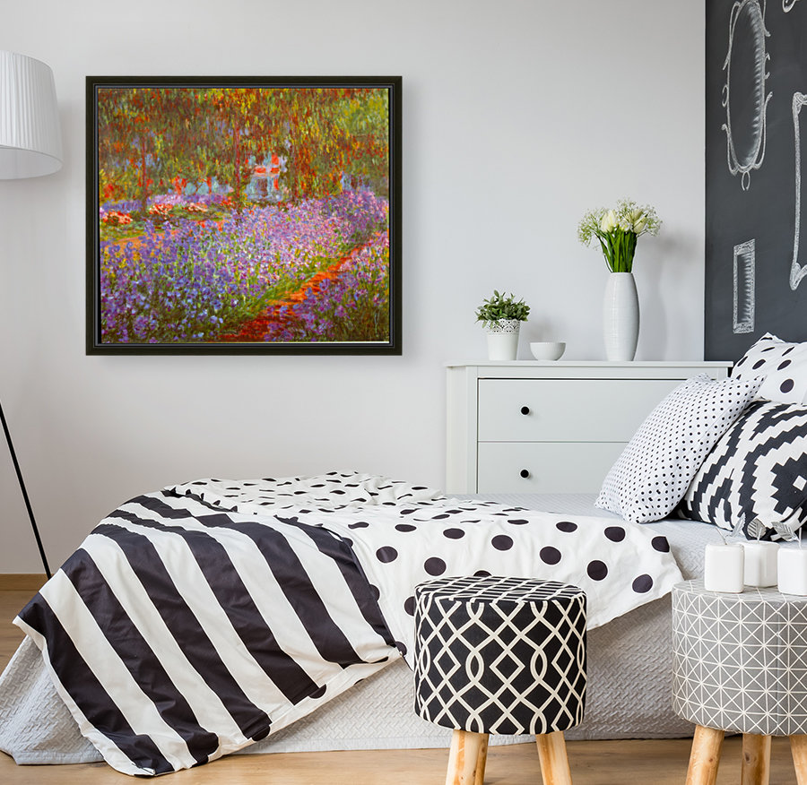 Monets Garden by Monet with Floating Frame