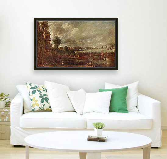 Landscape of a city with Floating Frame