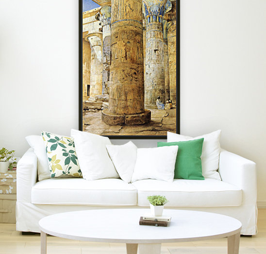 Interior of a temple  Art