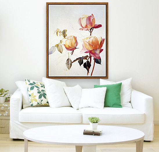 Florentine Roses with Floating Frame