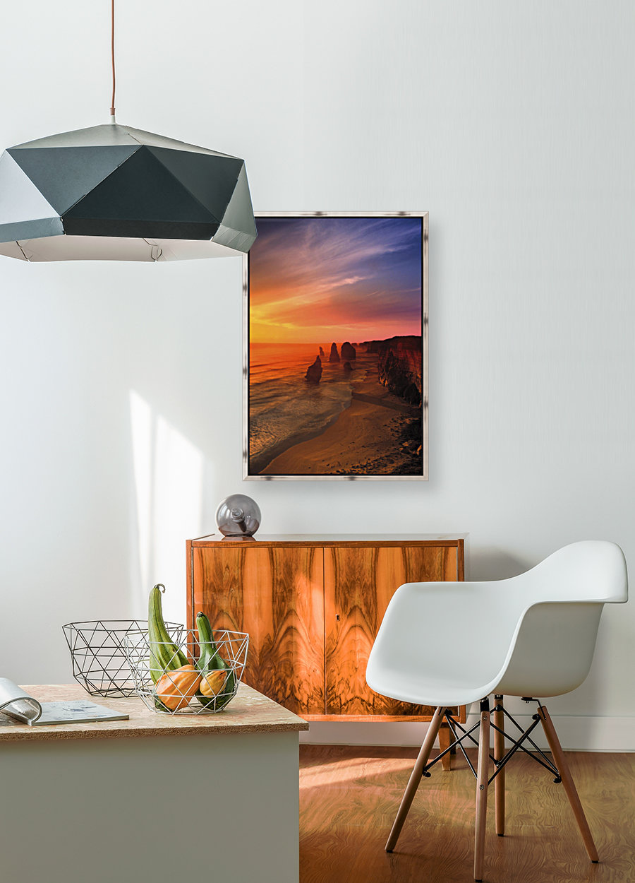 Sunset And Rock Formations  Art