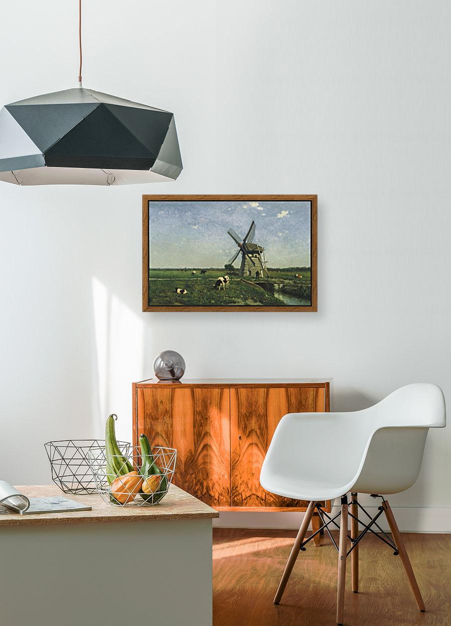 Landscape with Windmill near Schiedam  Art