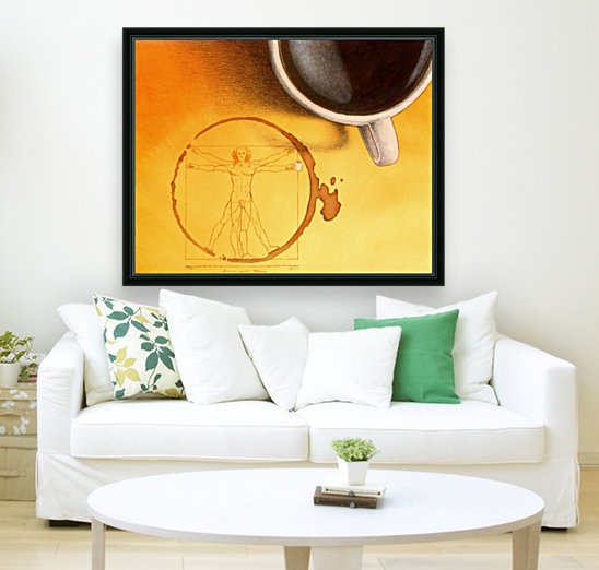 coffee man with Floating Frame
