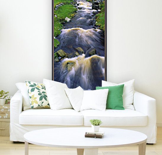 Ardara, Co Donegal, Ireland; Waterfall with Floating Frame