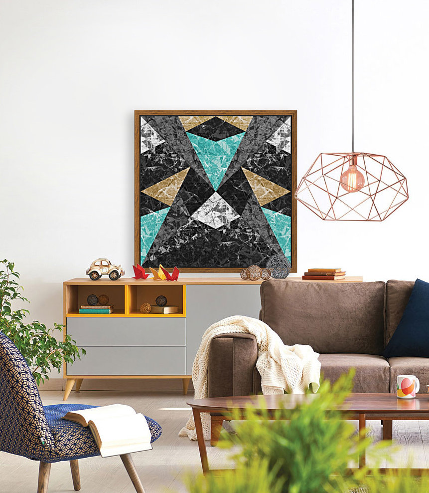 Marble Geometric Background G430 with Floating Frame