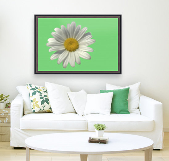 Soft bloom daisy with Floating Frame