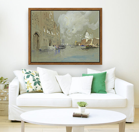 View of Venice along a canal  Art