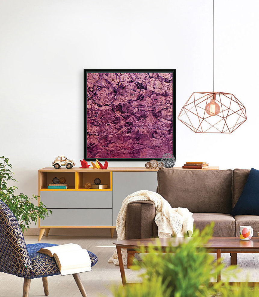 psychedelic grunge painting abstract texture in pink  Art