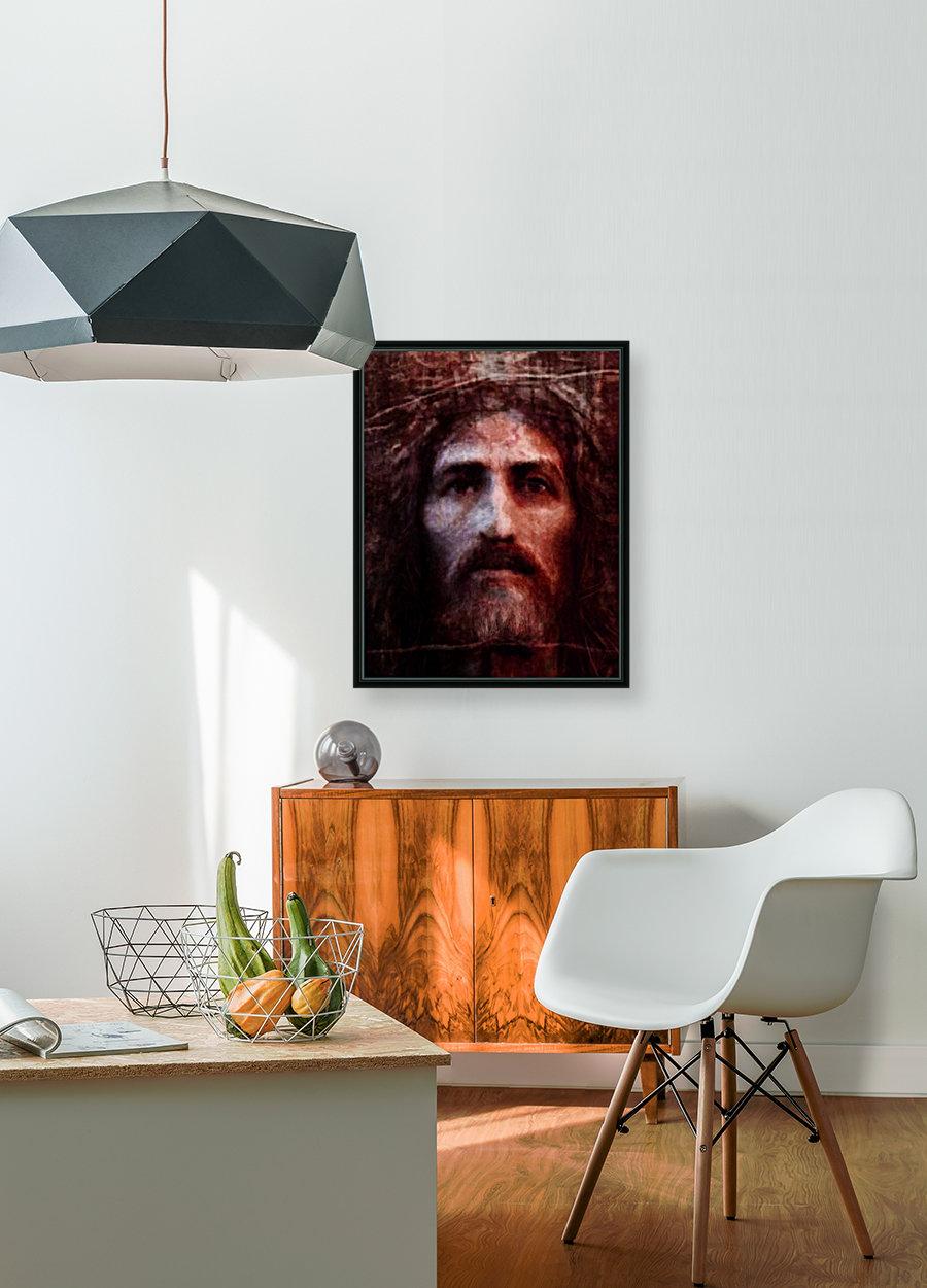 Christ face reconstruction claret  Art
