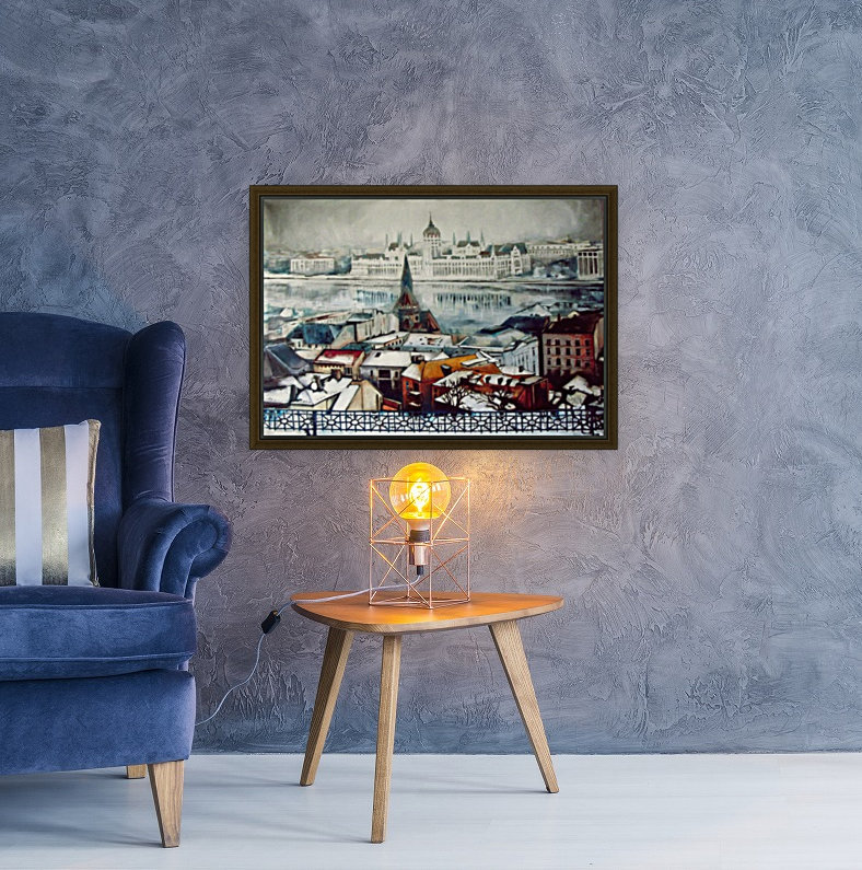 Budapest in wintertime with Floating Frame