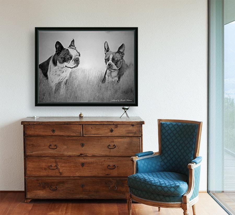 Boston Terriers  Art