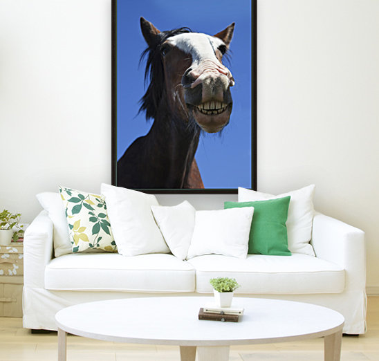 A Horse Smiling And Showing It's Teeth; Northumberland, England  Art