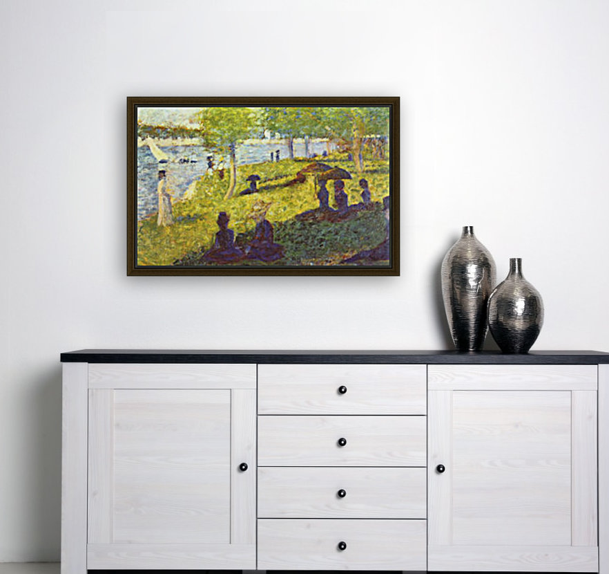 One Sunday on La Grande Jatte, draft by Seurat  Art
