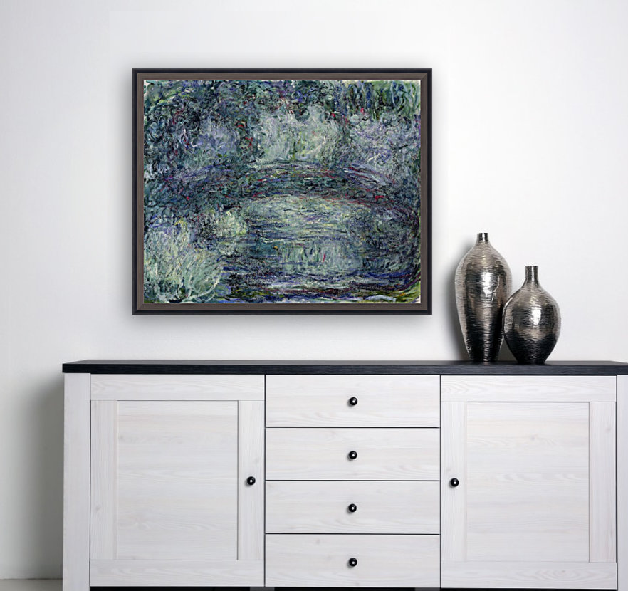 Pont Japonais Japanilainen silta by Monet with Floating Frame