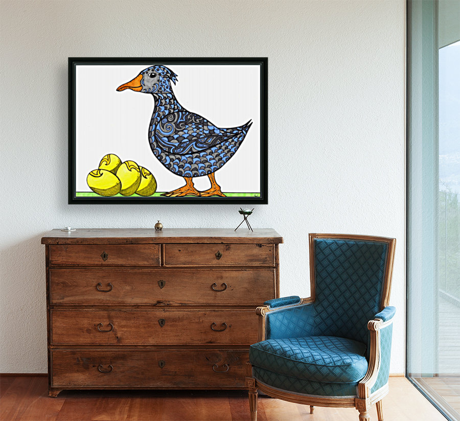 Goose and Golden Eggs with Floating Frame