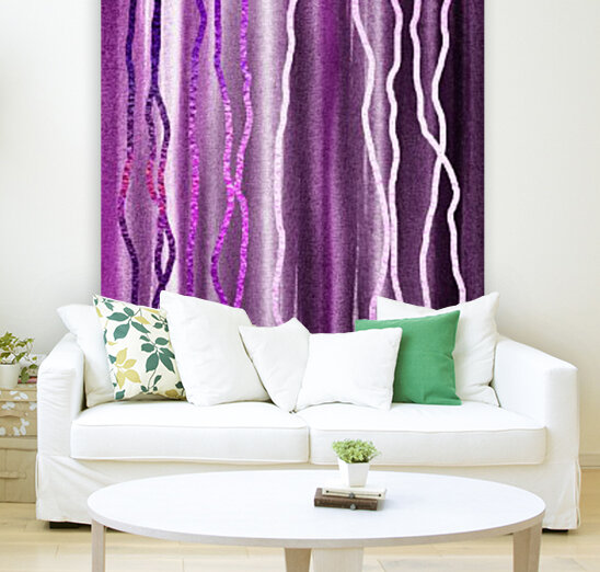 Organic Lines Purple Abstract  Art