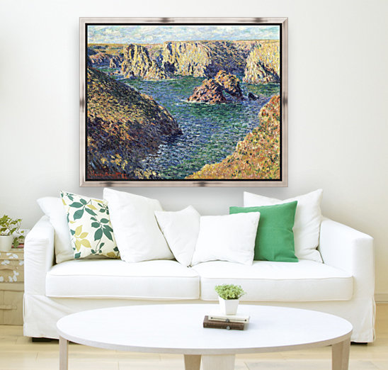 Port-Donnant by Monet with Floating Frame