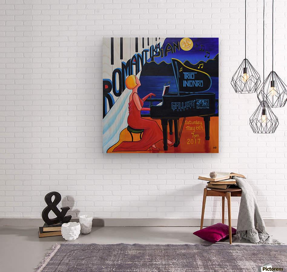 Romantika Piano  Wood print