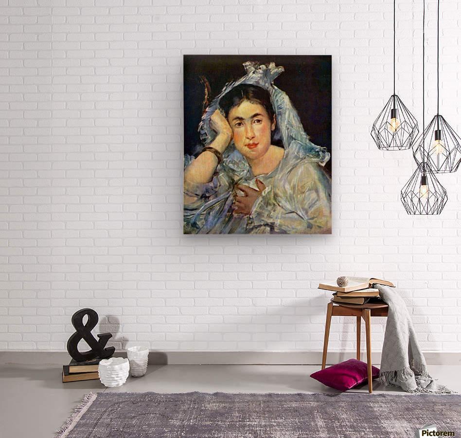 Portrait of Marguerite de Conflans by Manet  Wood print