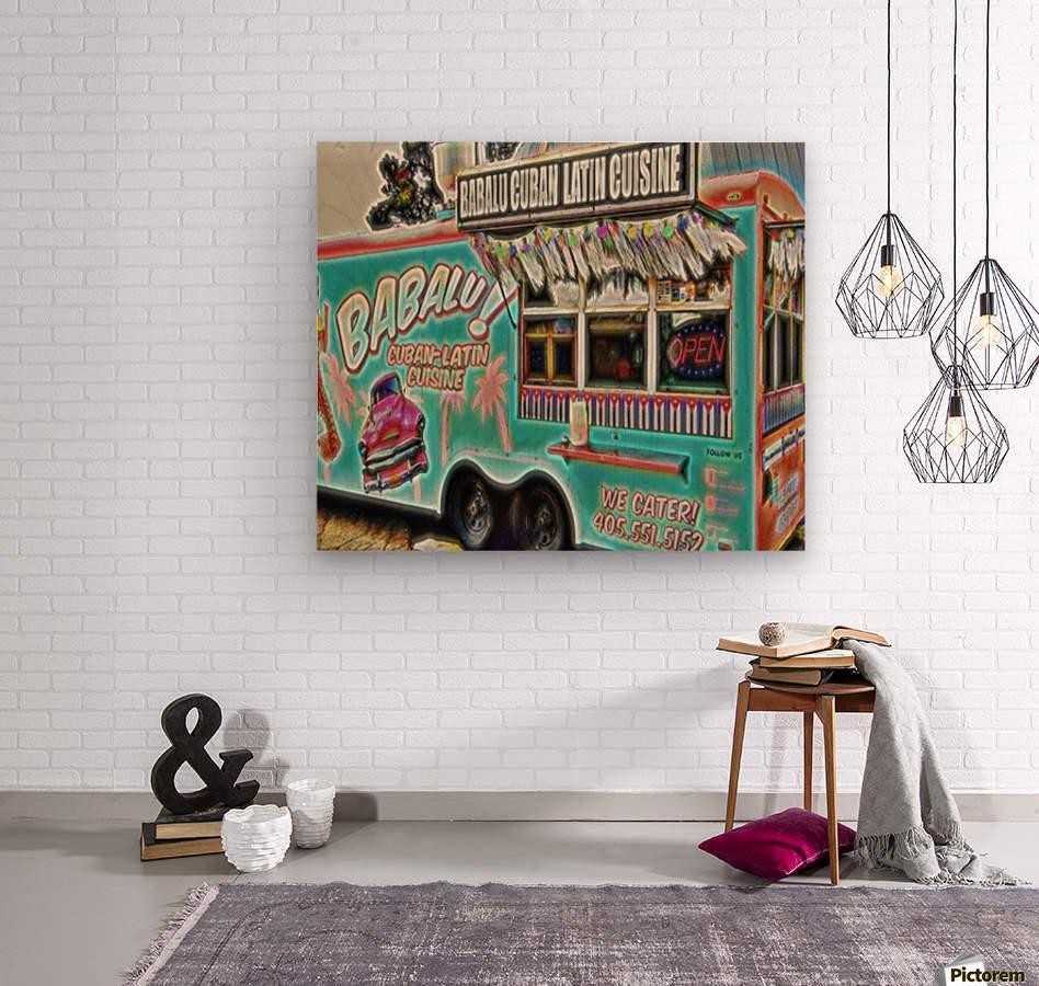 food truck one- okc  Wood print