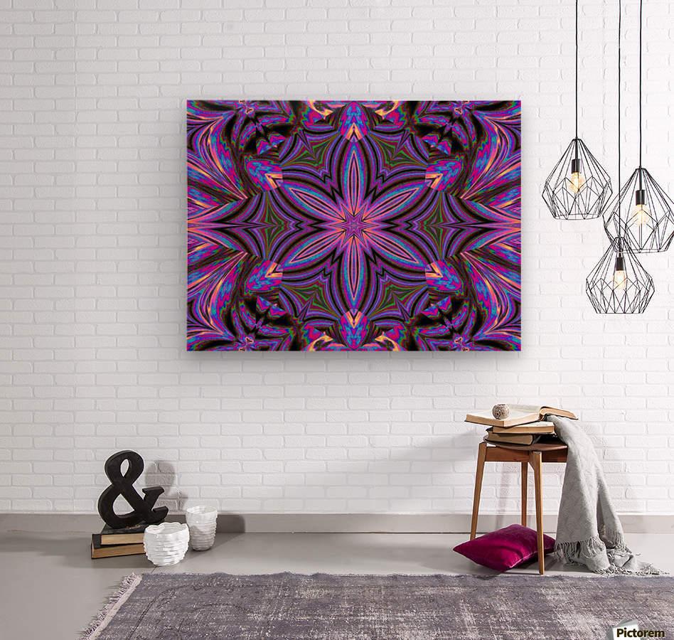 Psychedelic Jasmine 1  Wood print