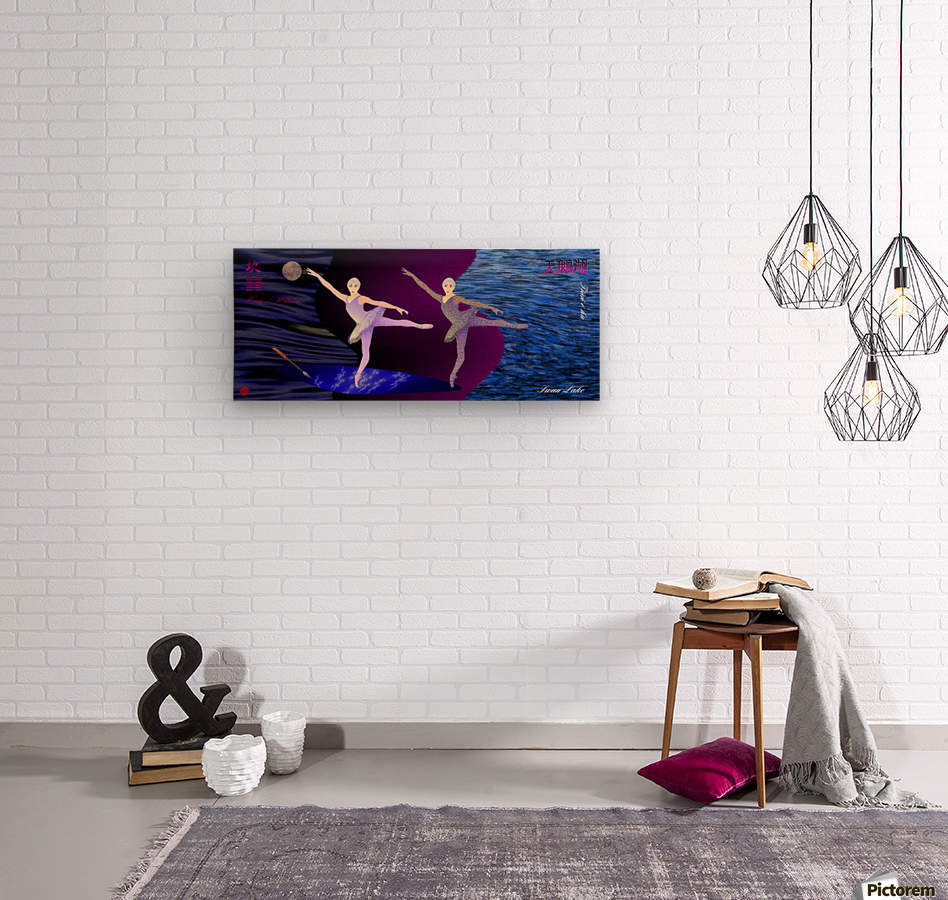 Dance of the Swans  Wood print