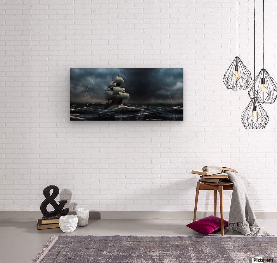 Stormy Seas by Jordan Blackstone  Wood print