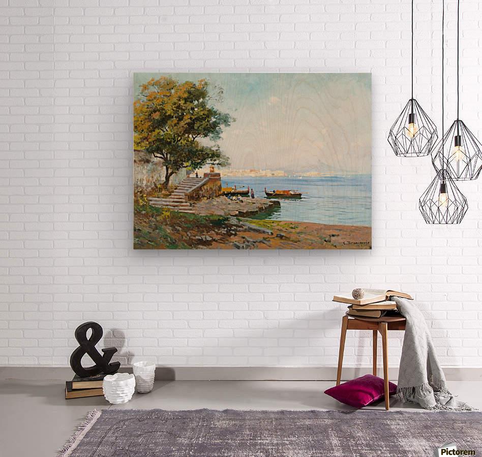La baie de Naples  Impression sur bois