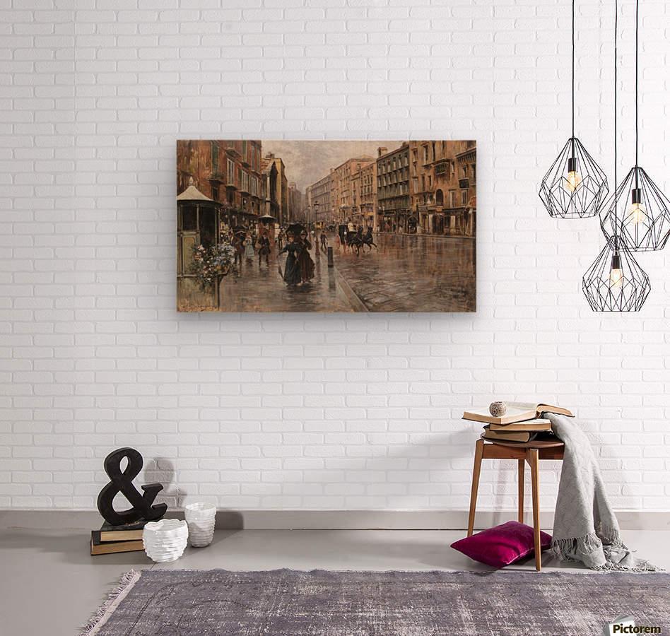 Napoli, Via Toledo  Impression sur bois