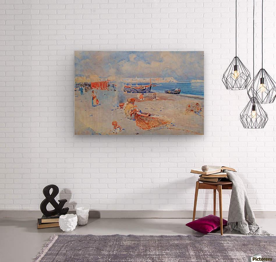 Beach of Mergellina  Impression sur bois