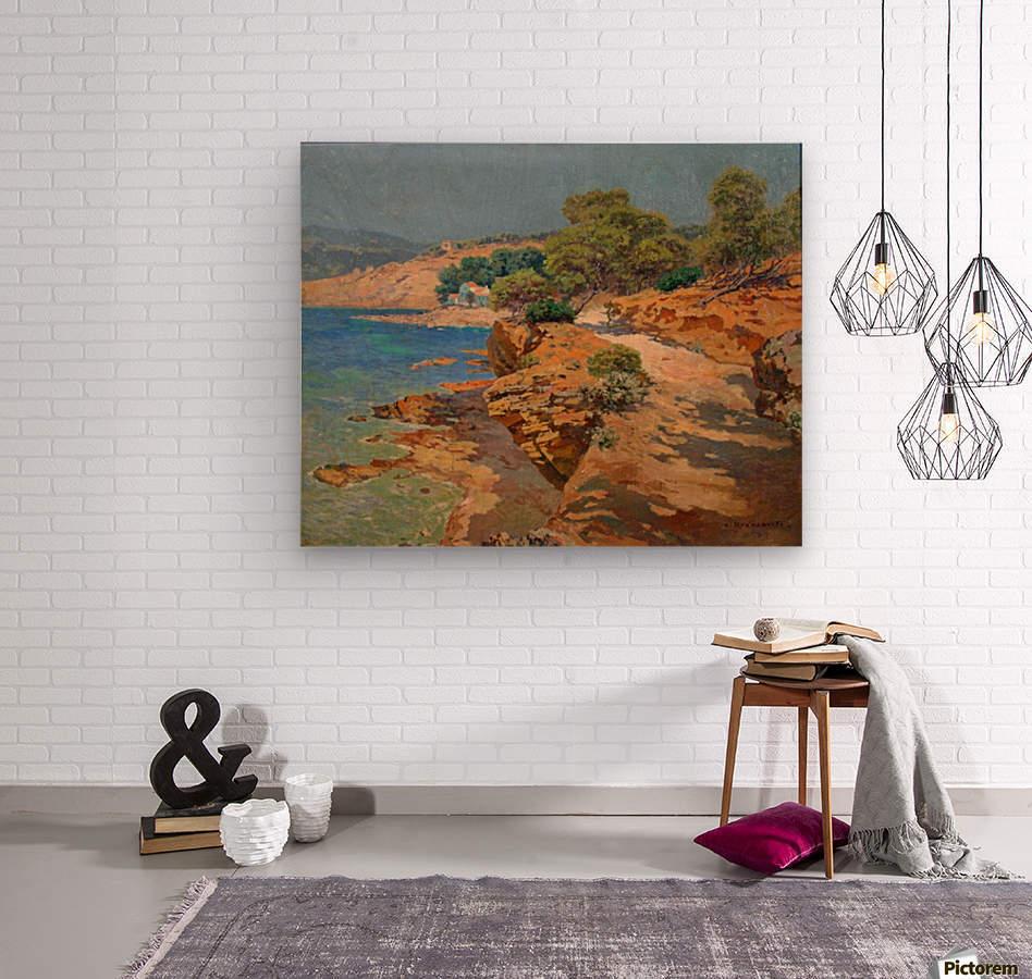 Landscape along the Italian coast  Impression sur bois