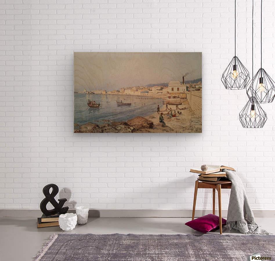 Marina di Napoli  Impression sur bois