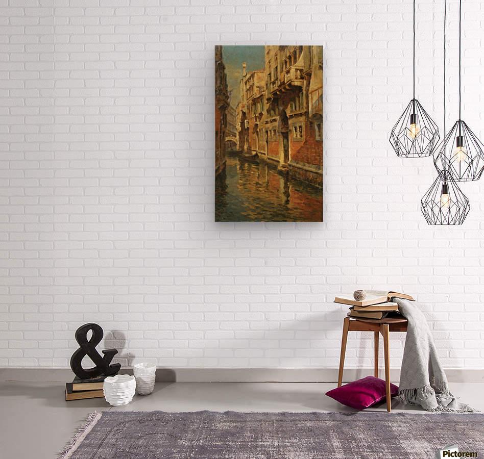 Shining morning in Venice  Impression sur bois