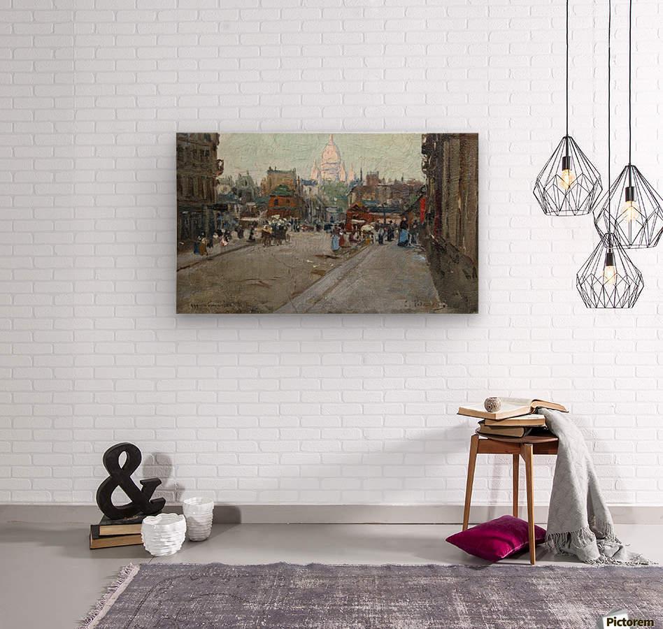 Montmartre  Impression sur bois