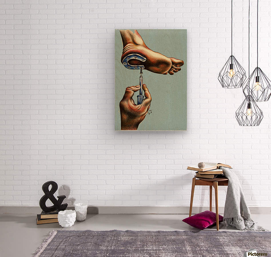 horseshoe  Wood print